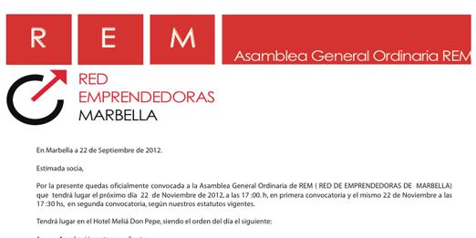 Convocatoria asamblea general noviembre 2012