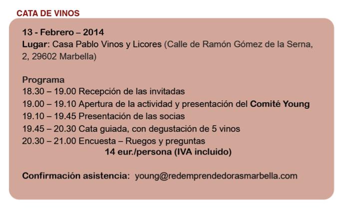 horario cata de vinos